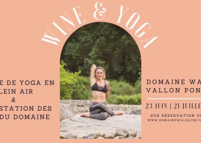 Wine & Yoga #2021 | 23 Juin, 21 Juillet, 18 août
