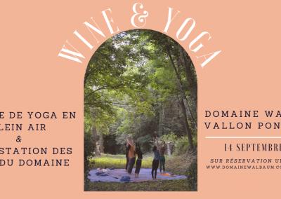 Wine & Yoga #2021   Dernière session le 14 Septembre